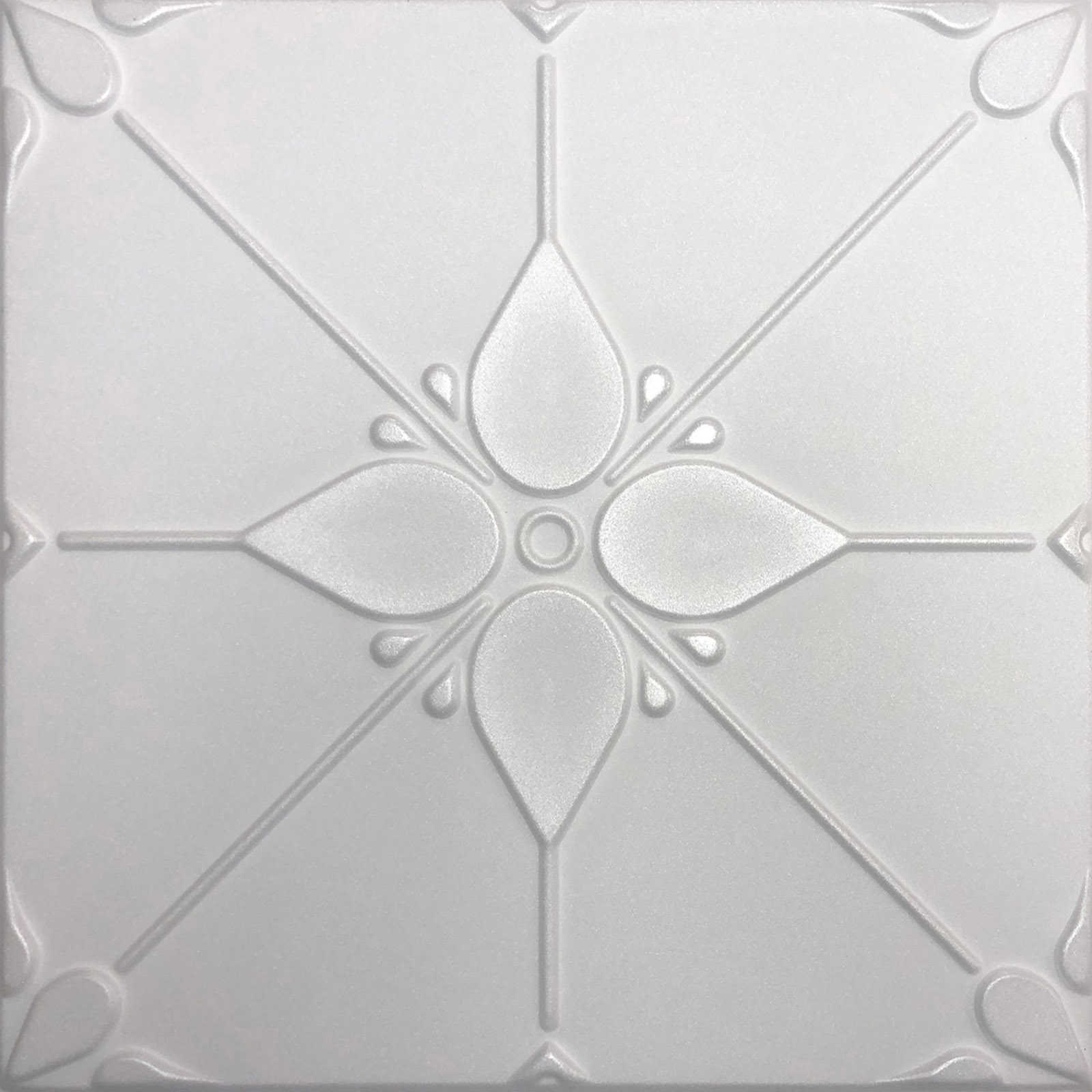 White Styrofoam Ceiling Tile Joy (Package of 8 ceiling tiles)