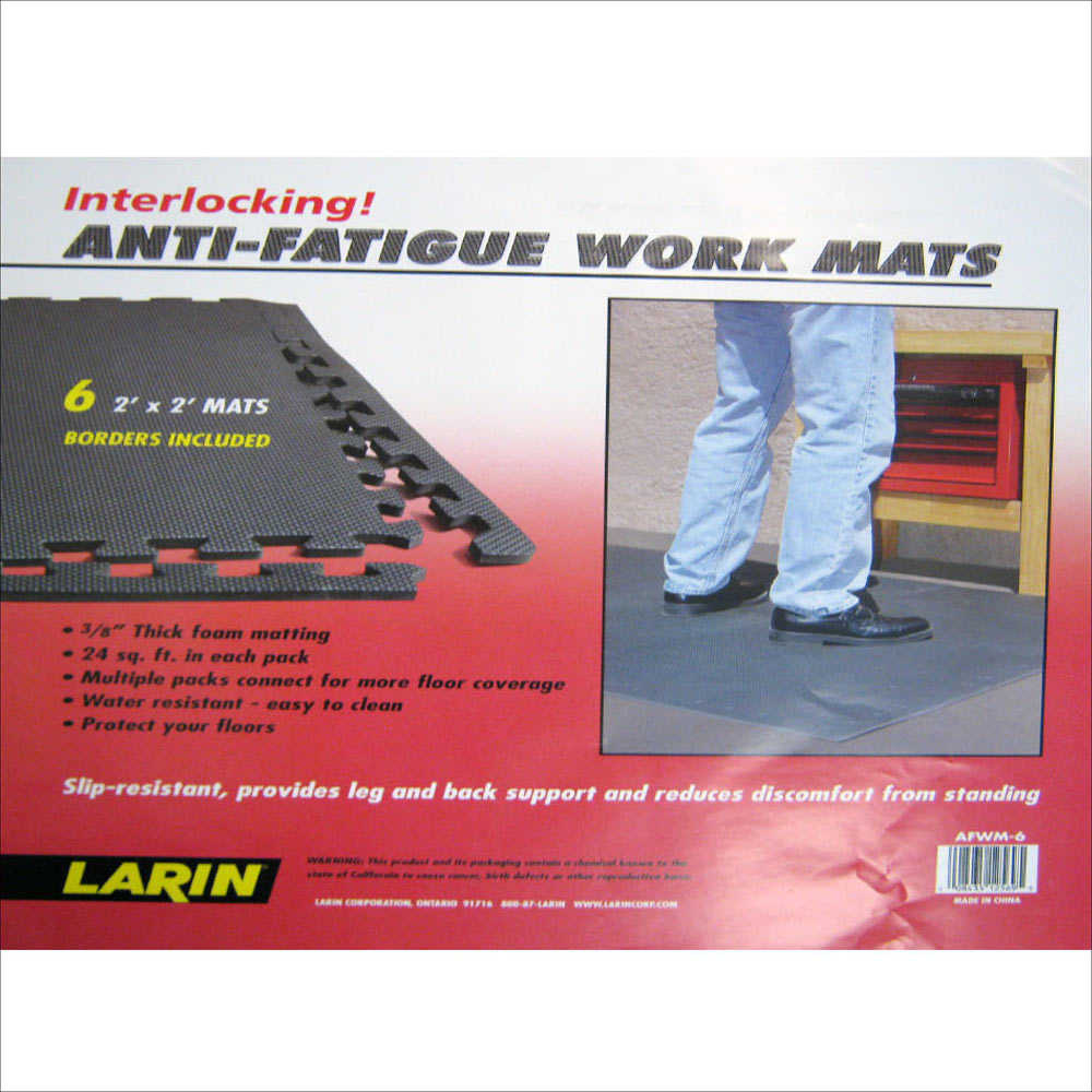 ANTI FATIGUE MATS 192 SQFT EXERCISE PLAY GYM FLOOR FLOORING INTERLOCKING PUZZLE